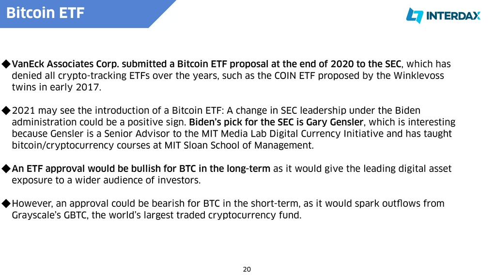 Bitcoin ETF   20 VanEck Associates Corp. submit...