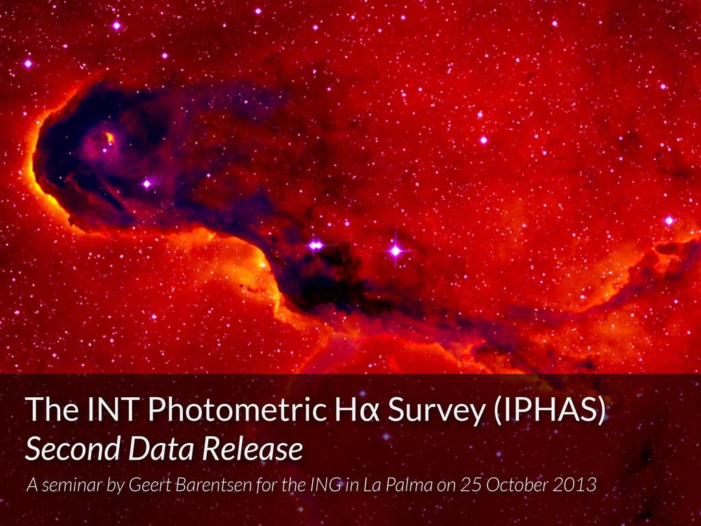 The INT Photometric Hα Survey (IPHAS) Second Da...