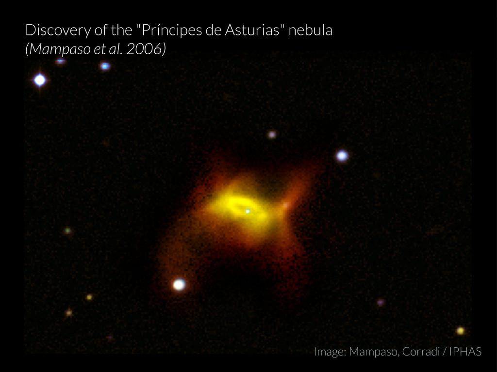 """Discovery of the """"Príncipes de Asturias"""" nebula..."""
