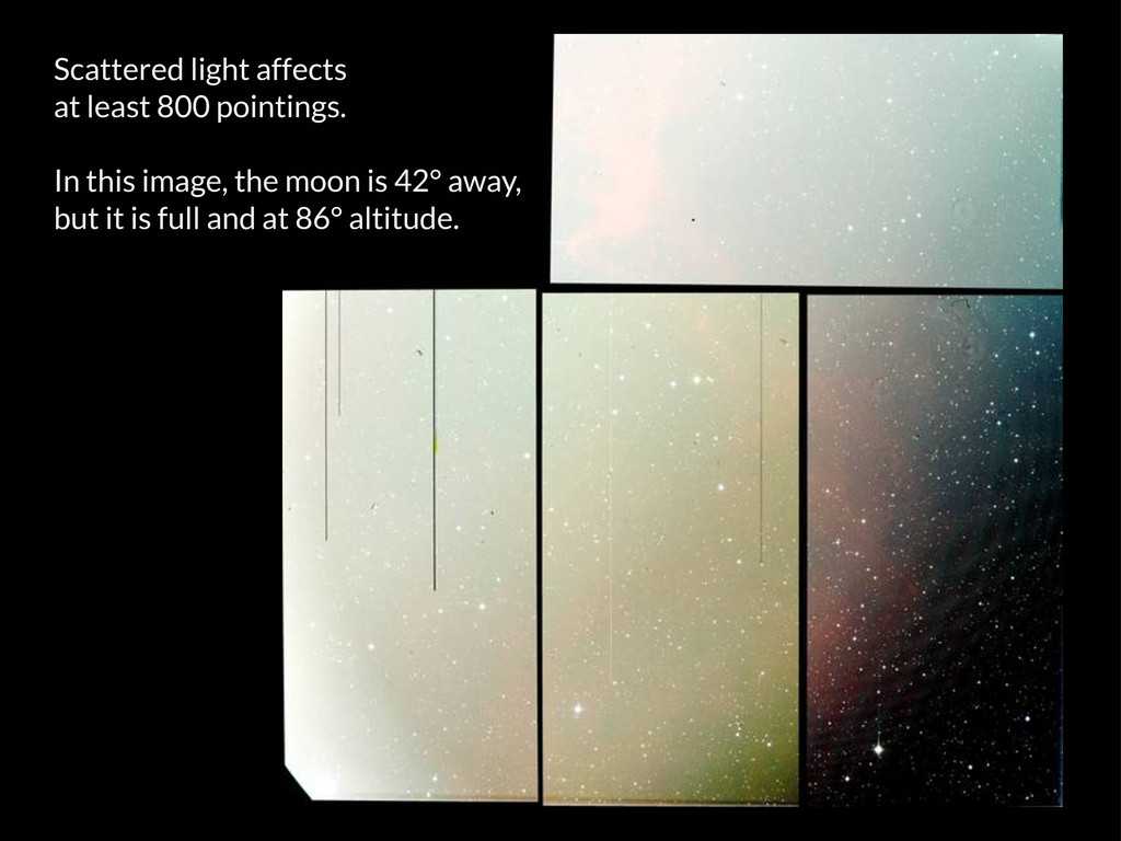 Scattered light affects at least 800 pointings....