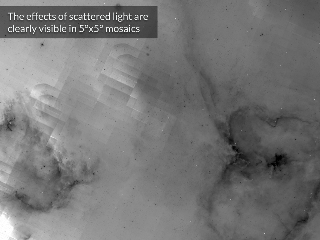 The effects of scattered light are clearly visi...