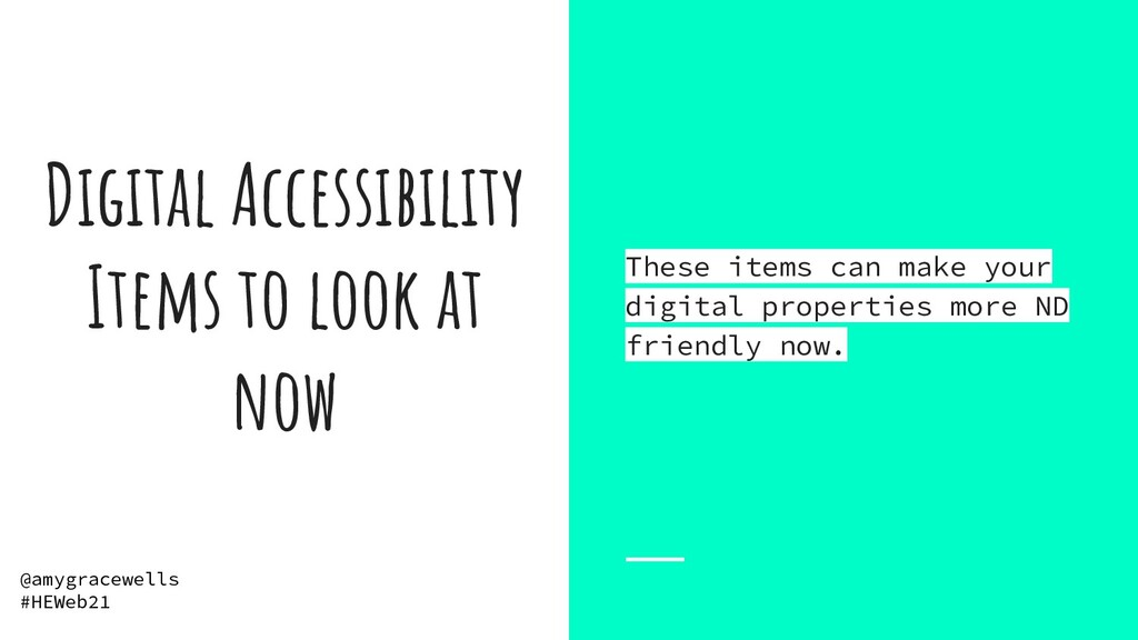 Digital Accessibility Items to look at now Thes...