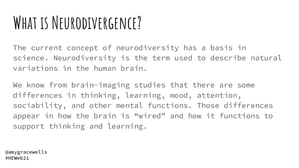 What is Neurodivergence? The current concept of...