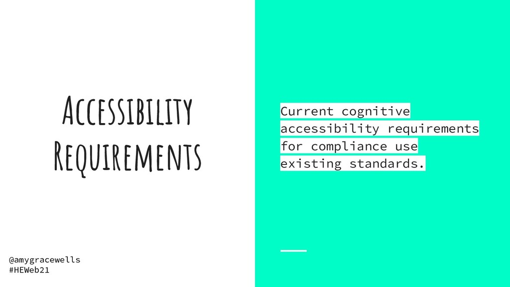 Accessibility Requirements Current cognitive ac...