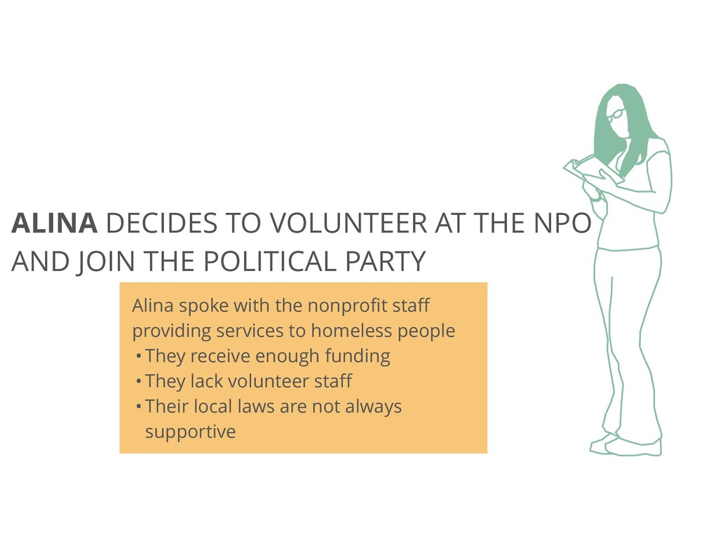 ALINA DECIDES TO VOLUNTEER AT THE NPO AND JOIN ...