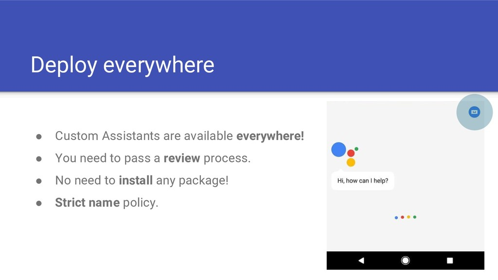 Deploy everywhere ● Custom Assistants are avail...