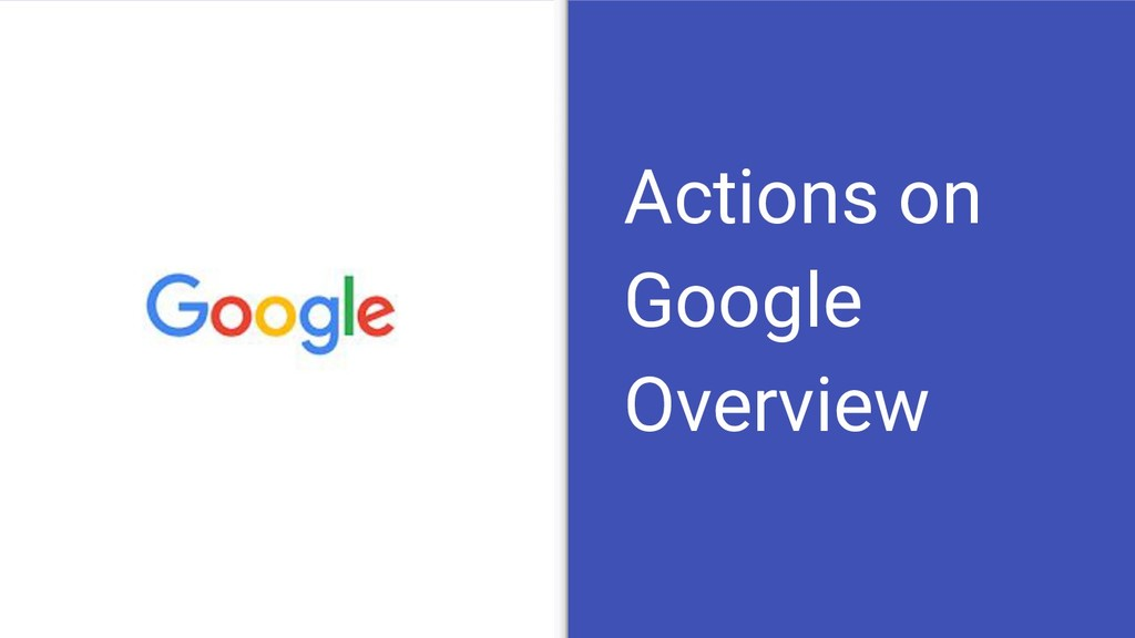 Actions on Google Overview