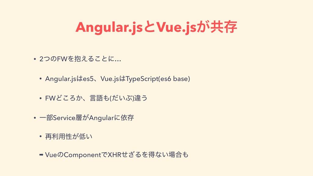 Angular.jsͱVue.js͕ڞଘ • 2ͭͷFWΛ๊͑Δ͜ͱʹ… • Angular....
