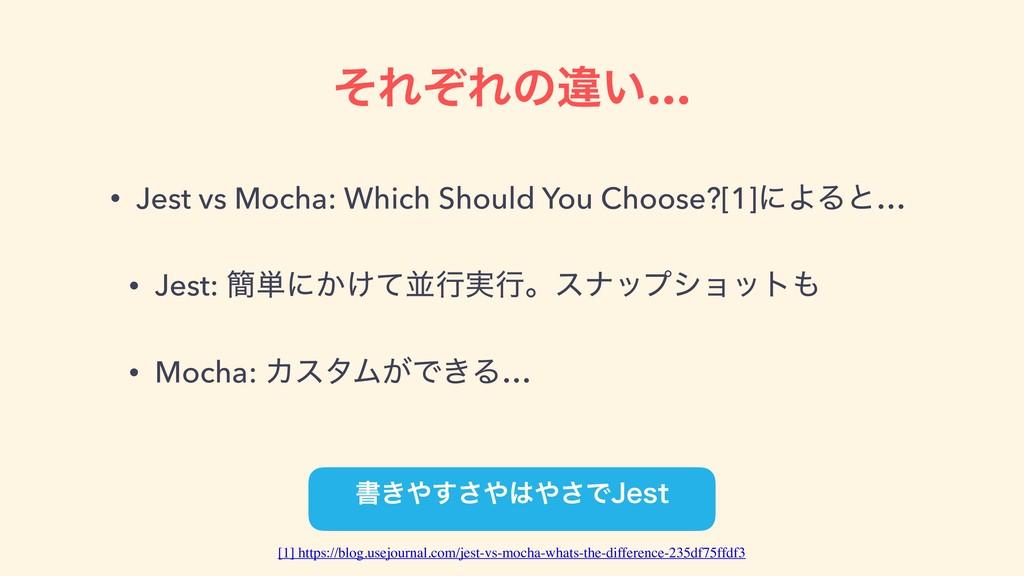 ͦΕͧΕͷҧ͍… • Jest vs Mocha: Which Should You Choo...