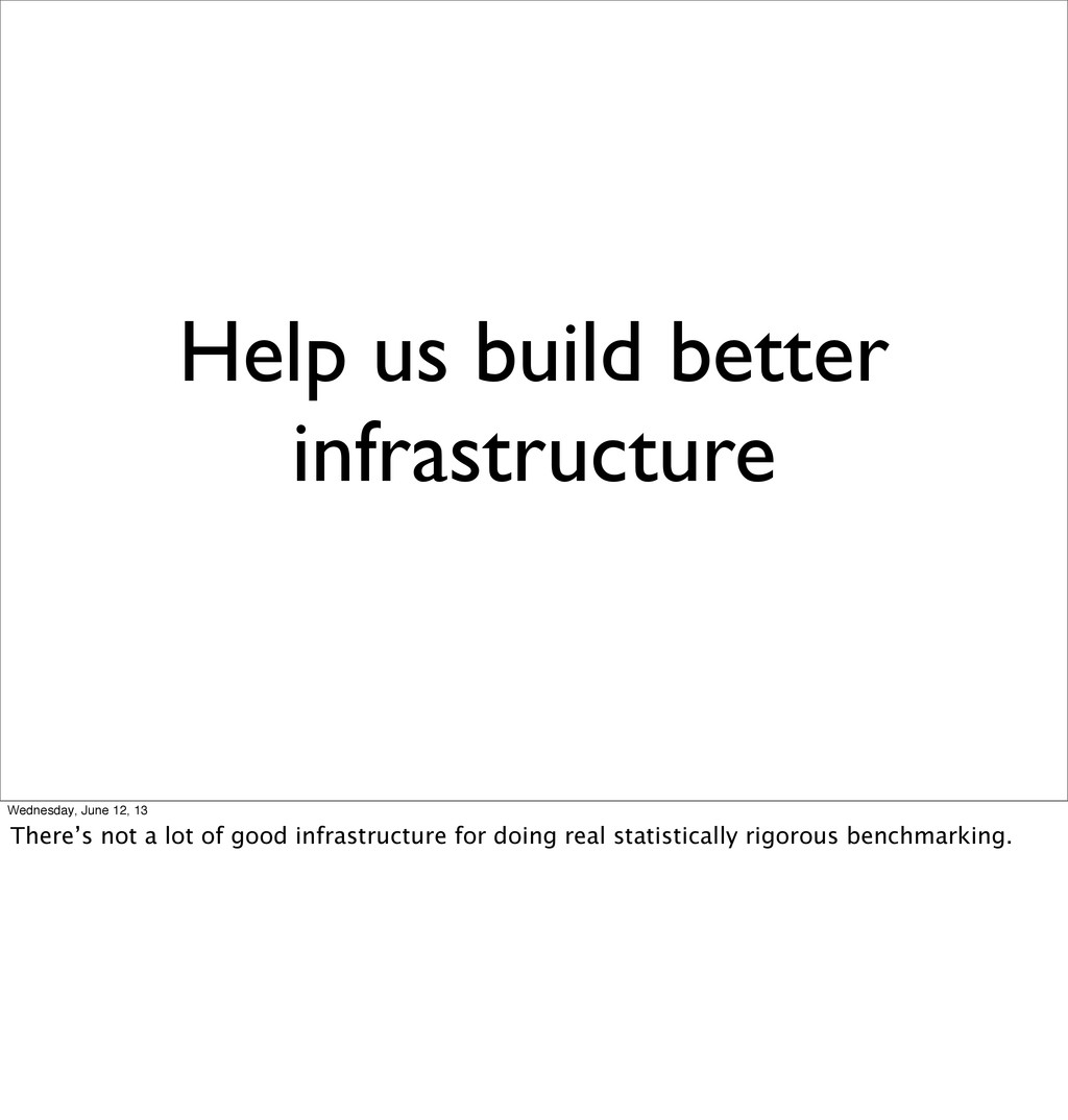 Help us build better infrastructure Wednesday, ...