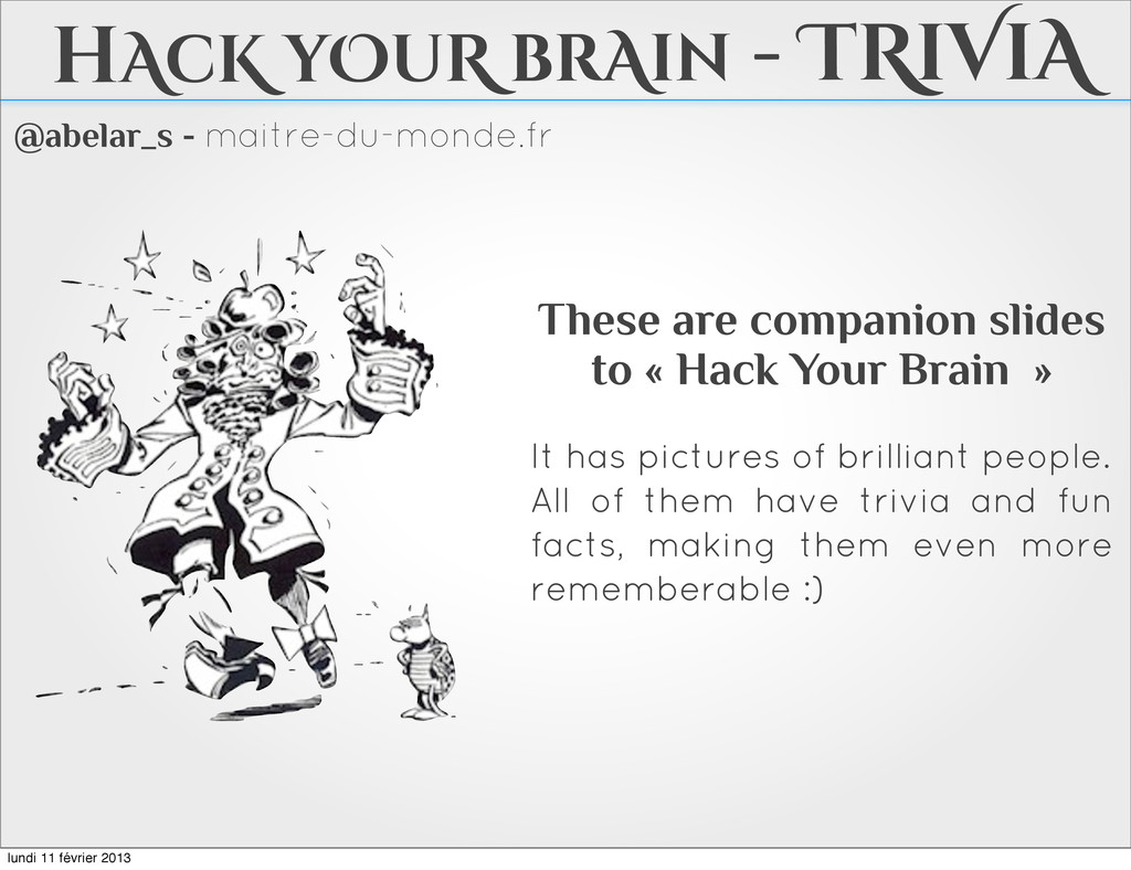 @abelar_s - maitre-du-monde.fr hAcK yOuR brAin ...
