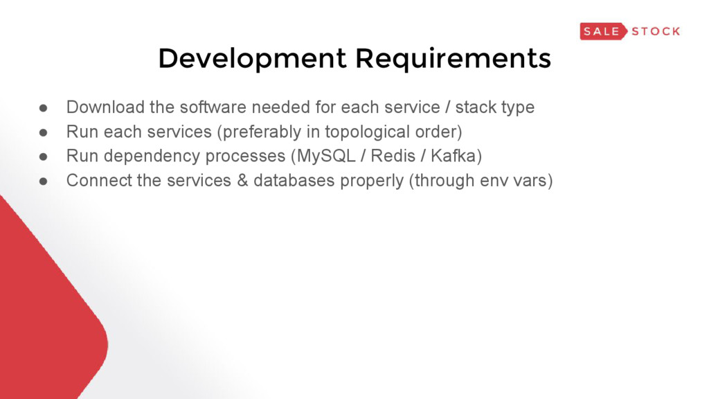 Development Requirements ● Download the softwar...
