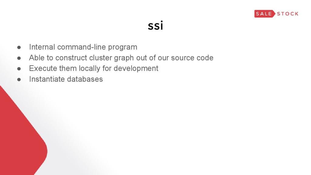 ssi ● Internal command-line program ● Able to c...