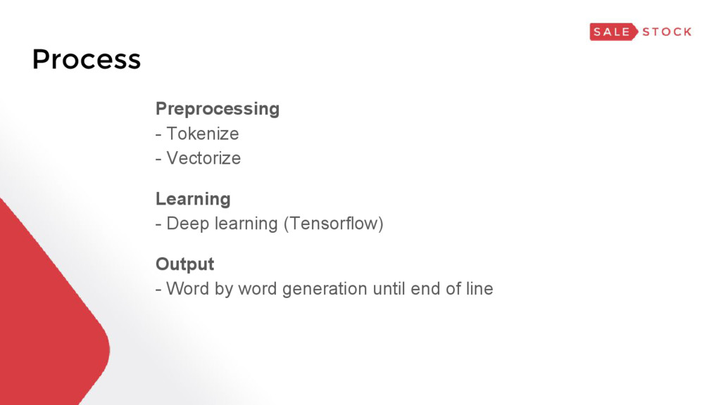 Process Preprocessing - Tokenize - Vectorize Le...