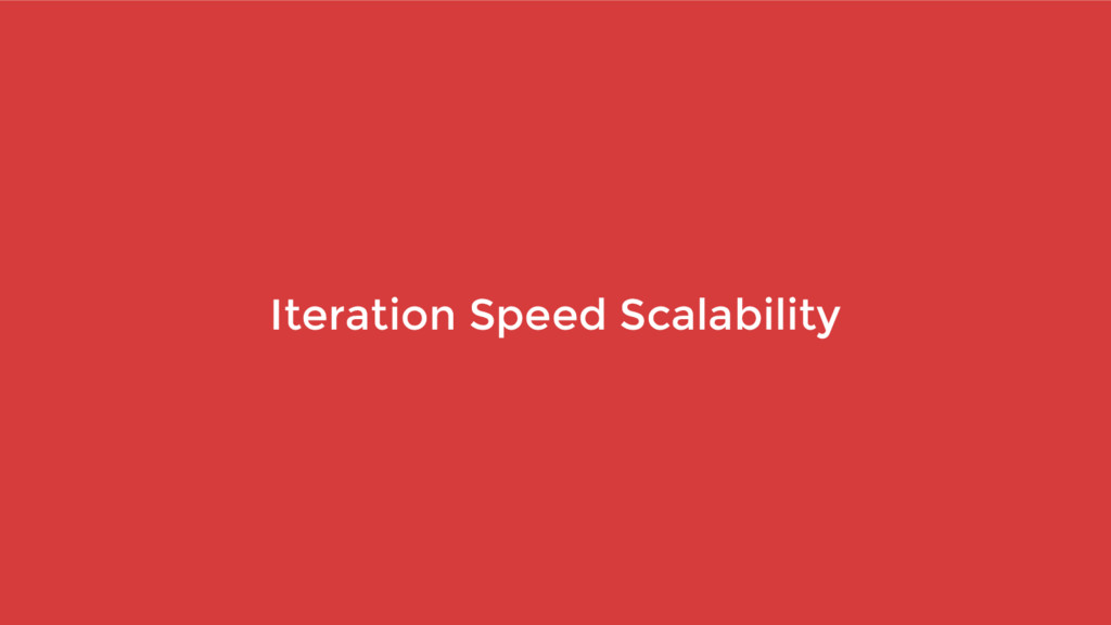 Iteration Speed Scalability