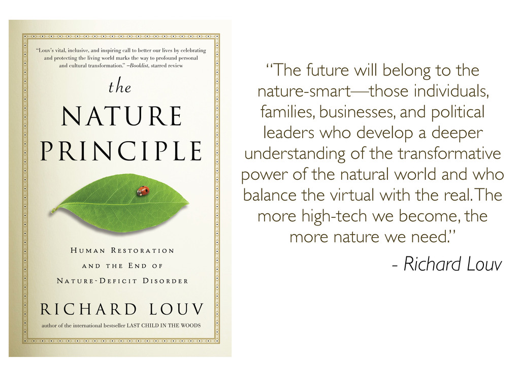 """""""The future will belong to the nature-smart—tho..."""