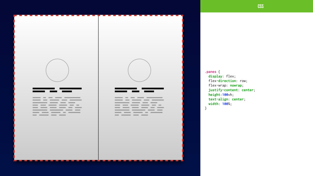 CSs .panes { display: flex; flex-direction: row...