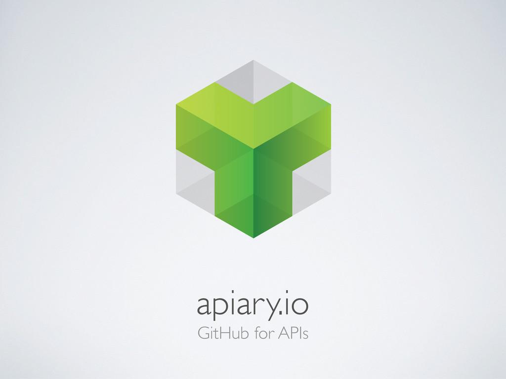 GitHub for APIs apiary.io