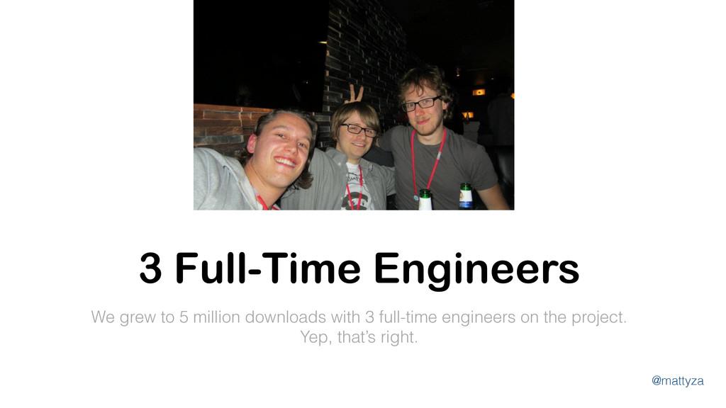 @mattyza We grew to 5 million downloads with 3 ...