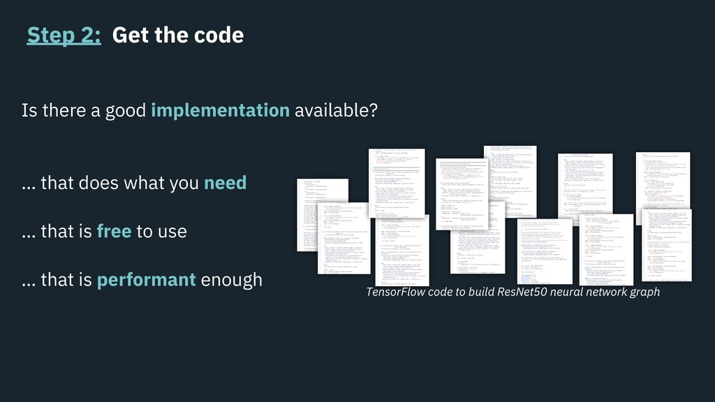 Step 2: Get the code Is there a good implementa...