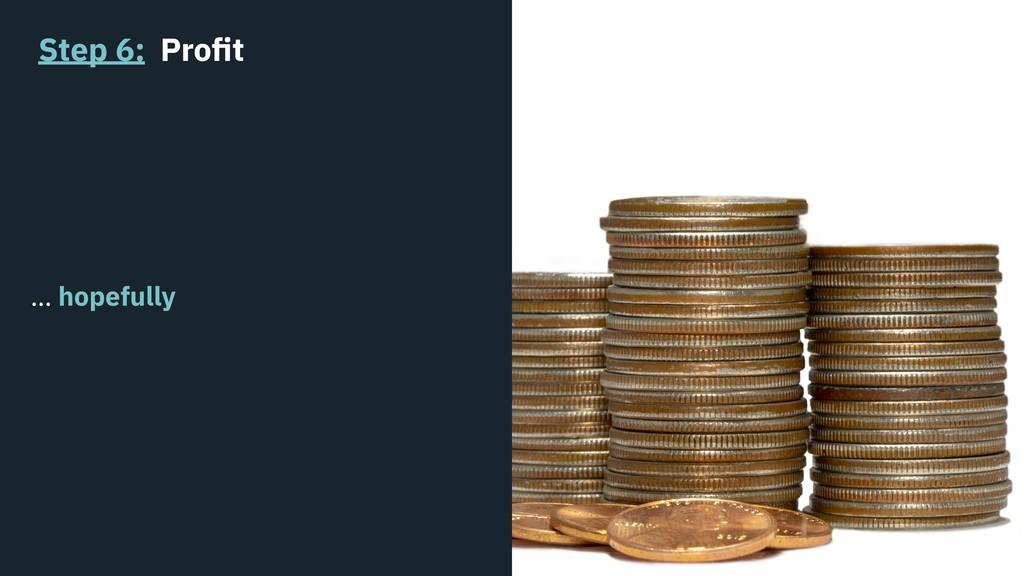Step 6: Profit … hopefully
