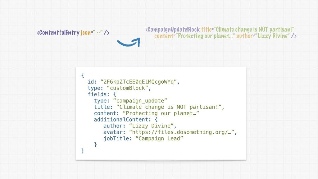 "<ContentfulEntry json=""⋯"" /> <CampaignUpdateBlo..."