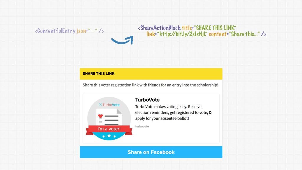 "<ContentfulEntry json=""⋯"" /> <ShareActionBlock ..."
