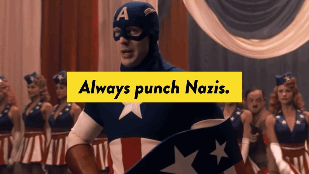 Always punch Nazis.