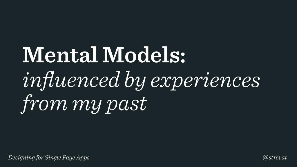 Designing for Single Page Apps @strevat Mental ...