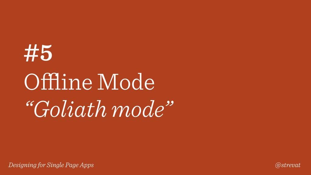 Designing for Single Page Apps @strevat #5 Offlin...
