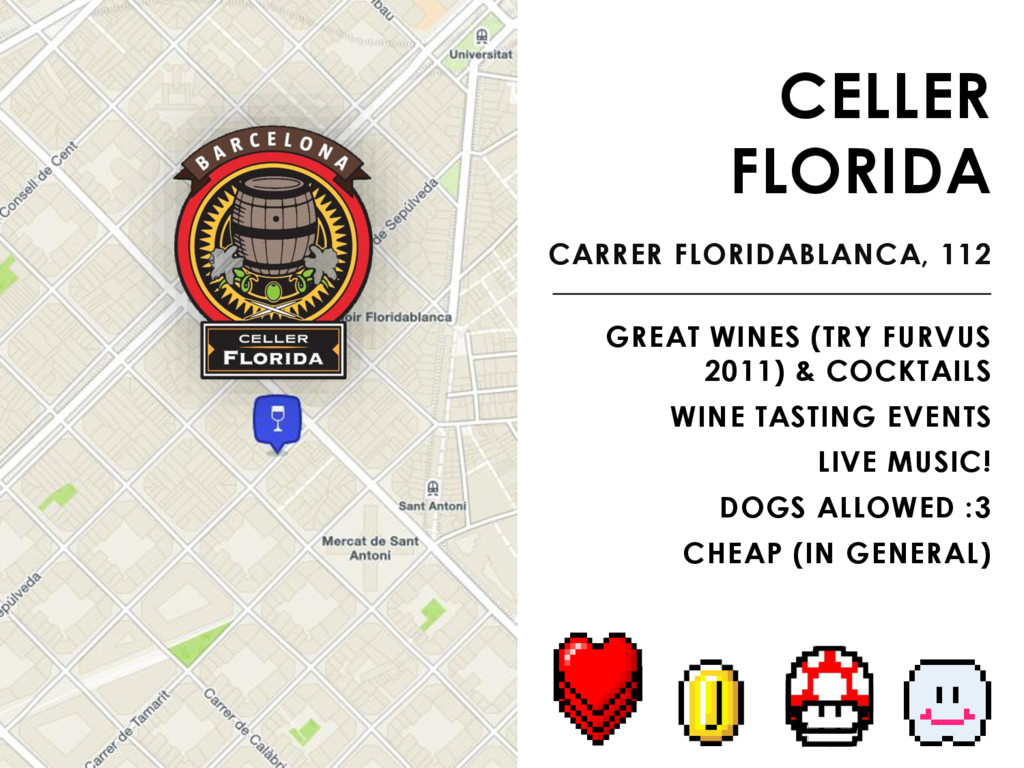 CELLER FLORIDA CARRER FLORIDABLANCA, 112 GREAT ...