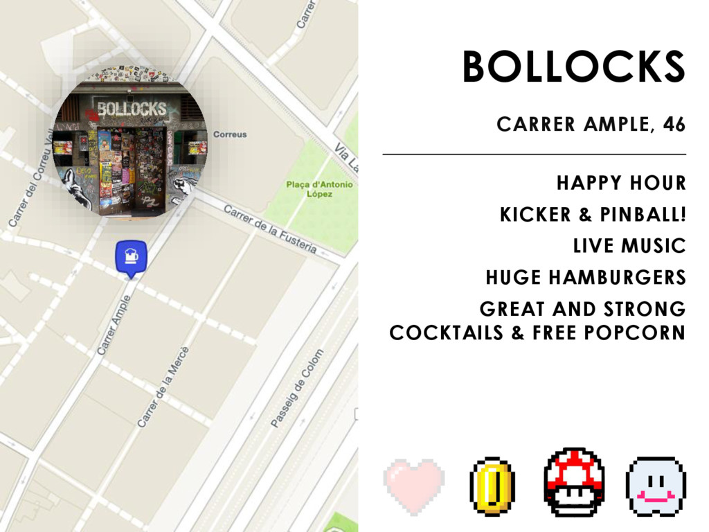 BOLLOCKS CARRER AMPLE, 46 HAPPY HOUR KICKER & P...
