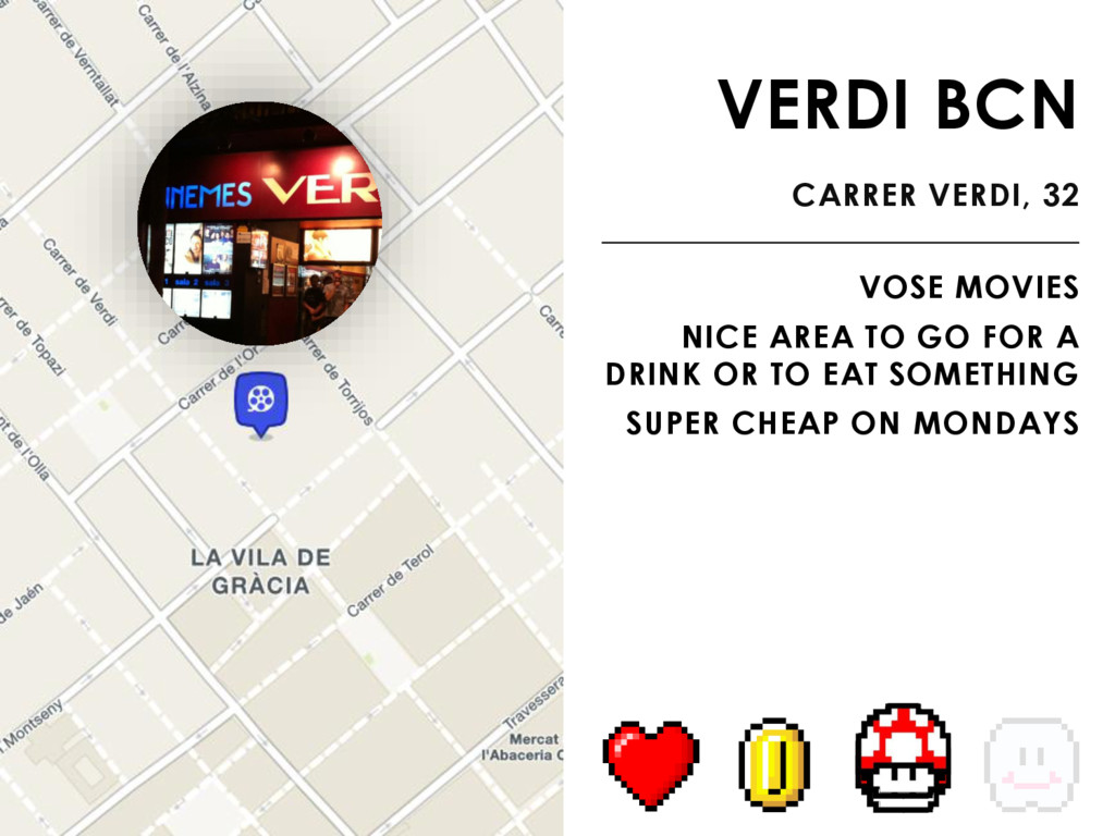 VERDI BCN CARRER VERDI, 32 VOSE MOVIES NICE ARE...