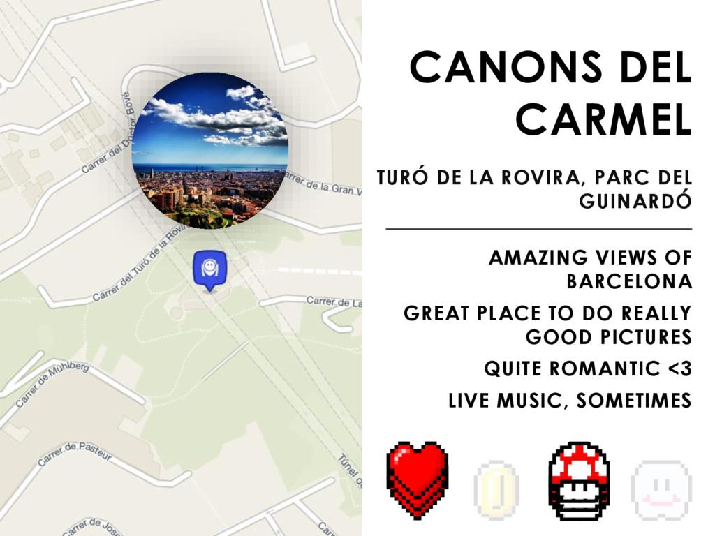 CANONS DEL CARMEL TURÓ DE LA ROVIRA, PARC DEL G...