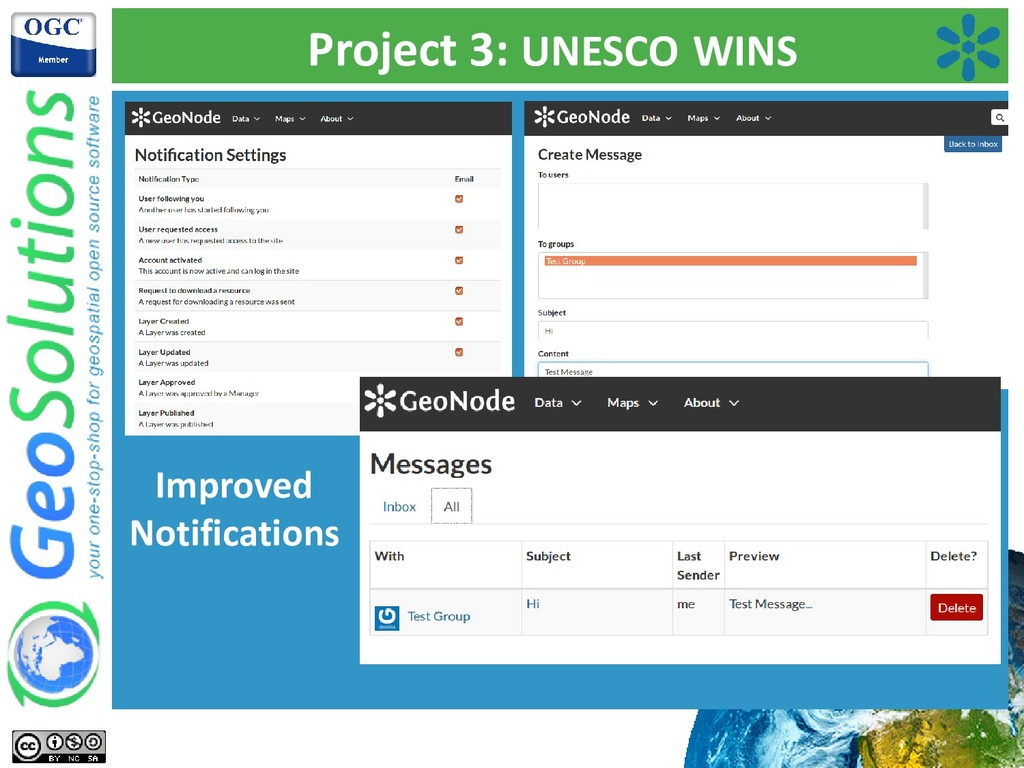Project 3: UNESCO WINS Improved Notifications