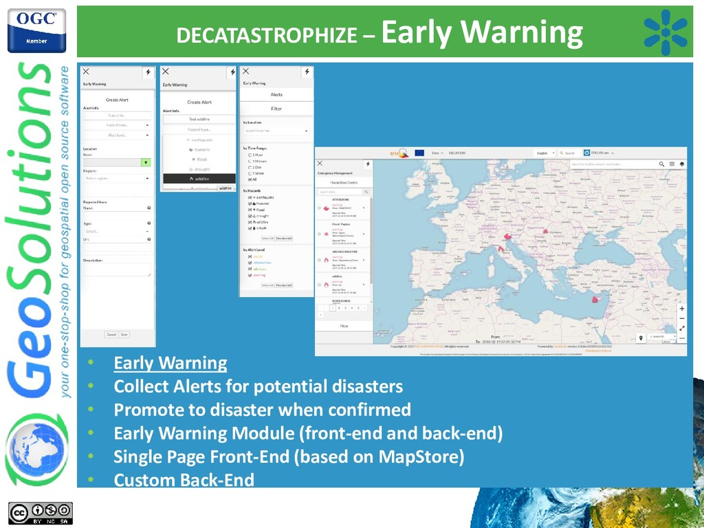 DECATASTROPHIZE – Early Warning • Early Warning...