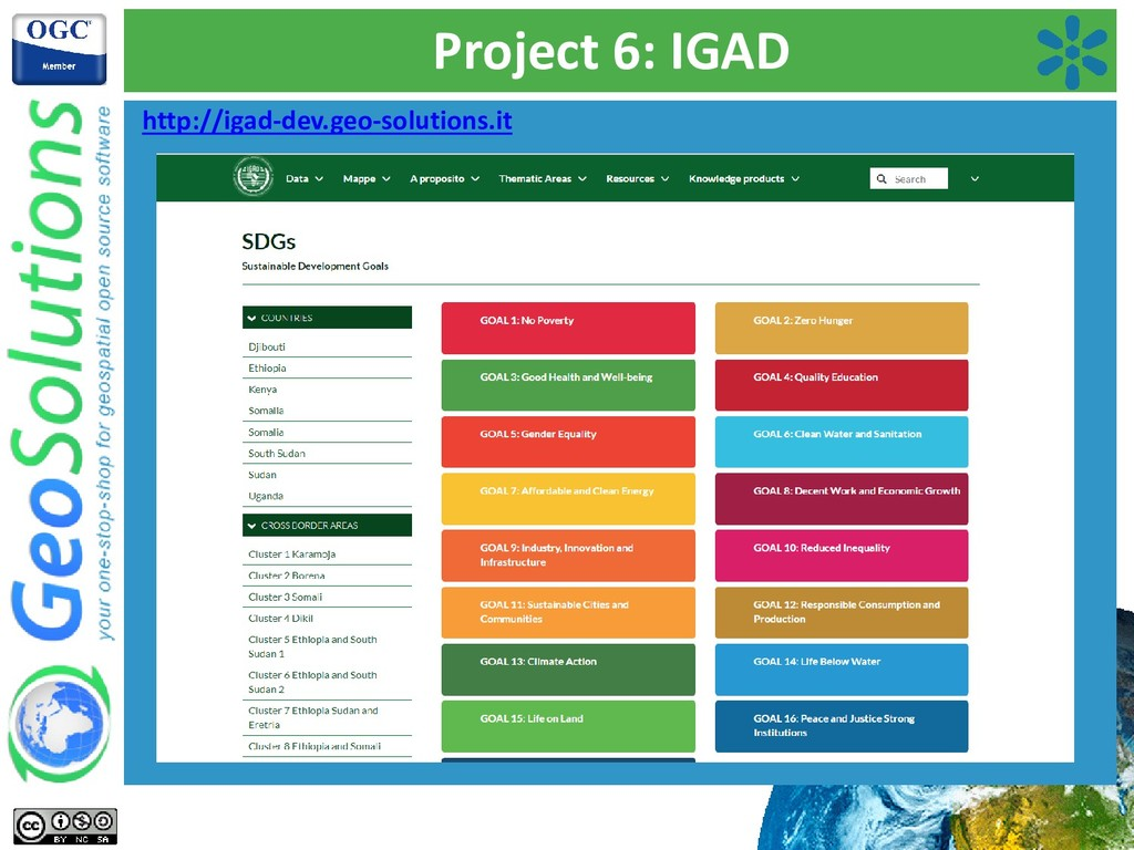 Project 6: IGAD http://igad-dev.geo-solutions.it