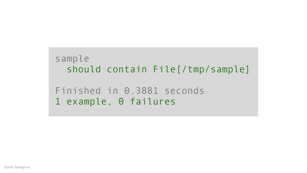 sample should contain File[/tmp/sample] ! Finis...