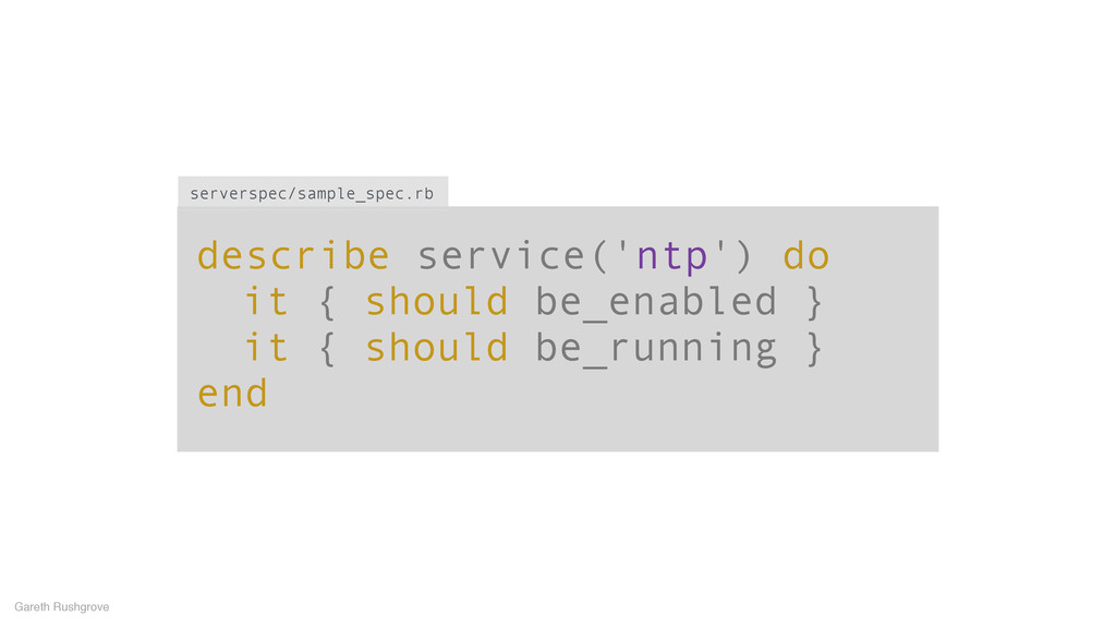 describe service('ntp') do it { should be_enabl...