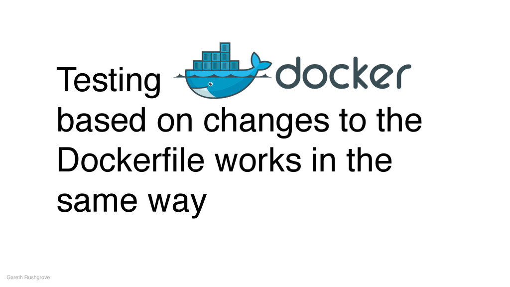 Testing! based on changes to the Dockerfile work...