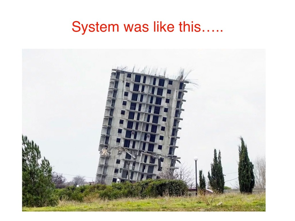 System was like this…..