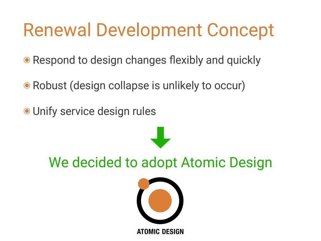 Renewal Development Concept ๏ Respond to design...