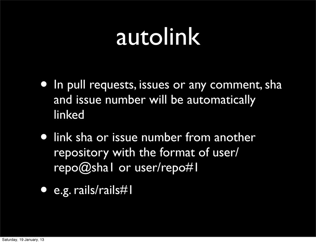 autolink • In pull requests, issues or any comm...