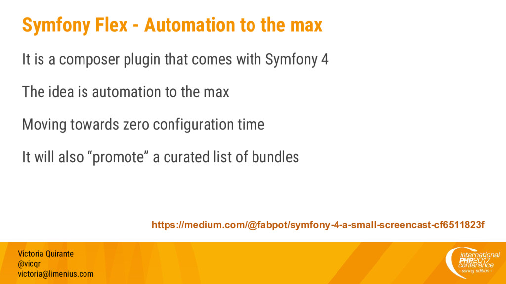 Symfony Flex - Automation to the max It is a co...