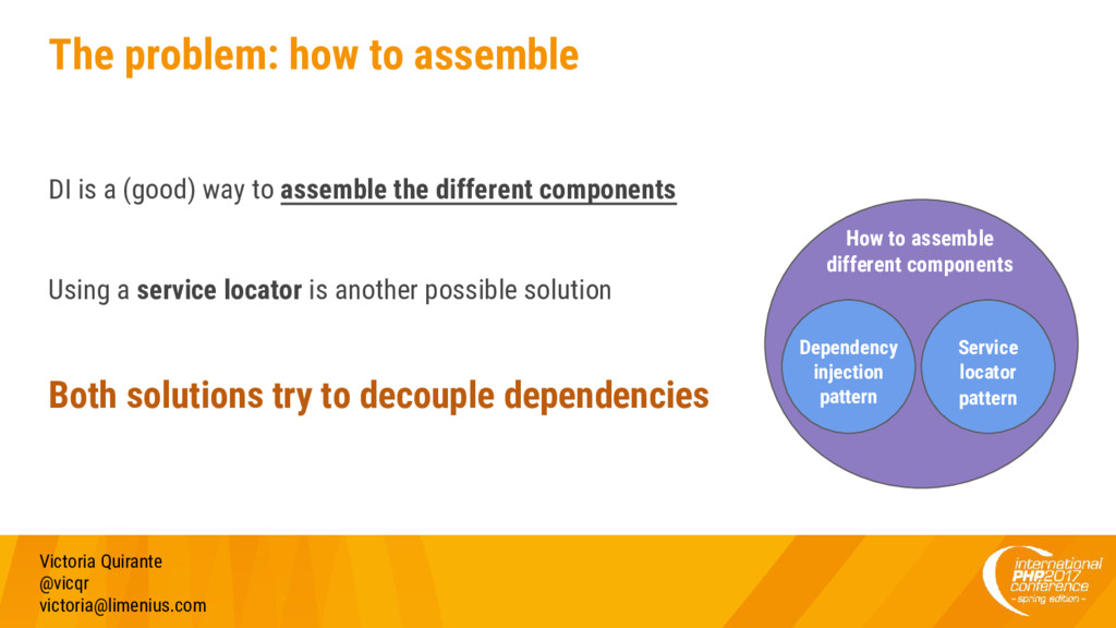 The problem: how to assemble DI is a (good) way...