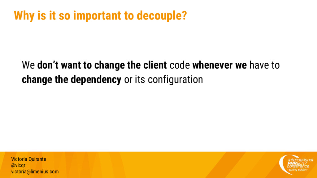 Why is it so important to decouple? We don't wa...