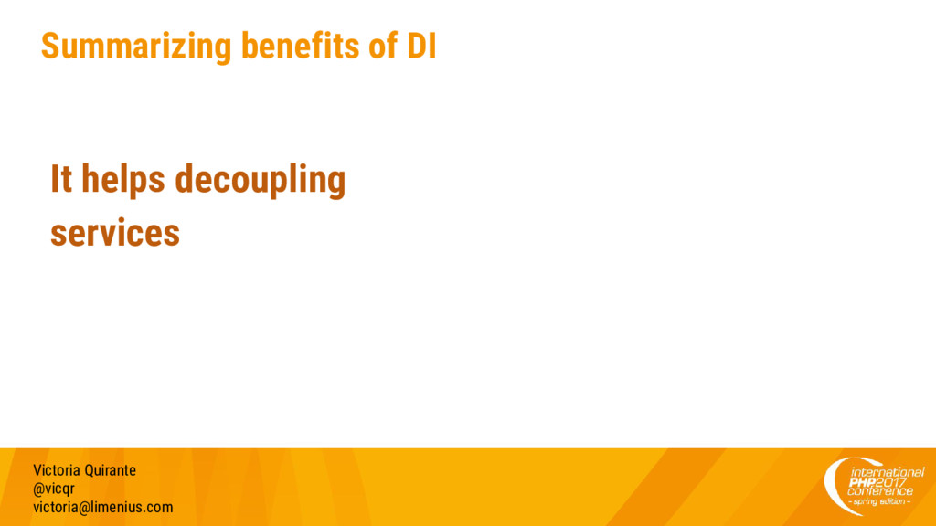Summarizing benefits of DI Victoria Quirante @v...