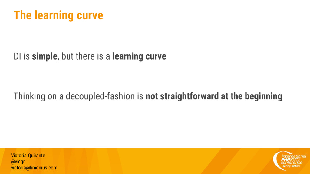 The learning curve DI is simple, but there is a...