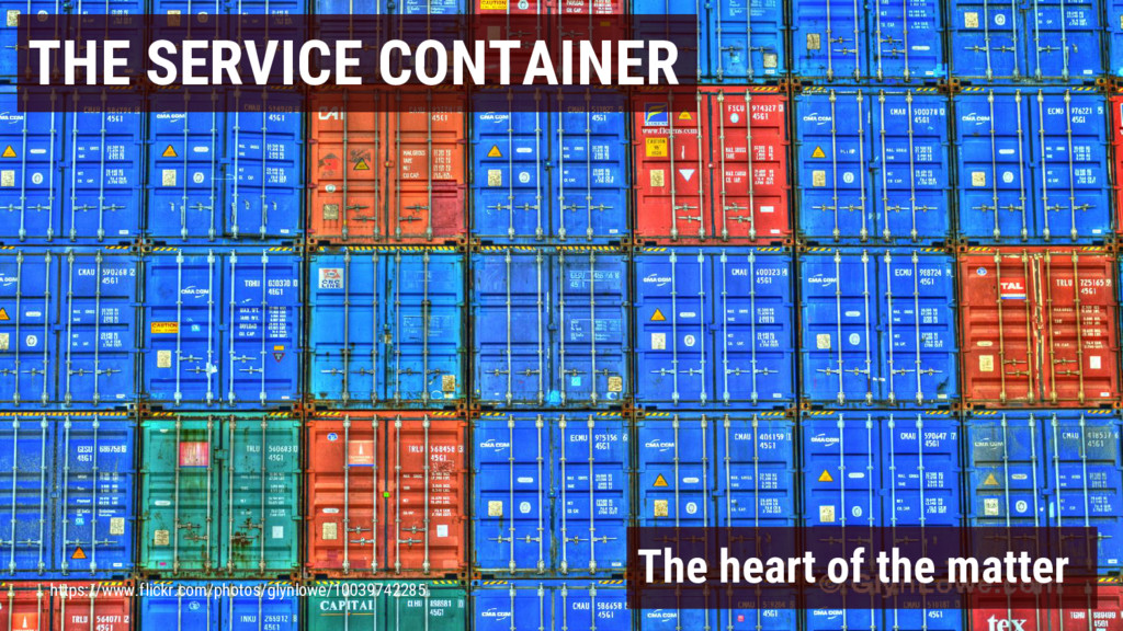THE SERVICE CONTAINER The heart of the matter h...