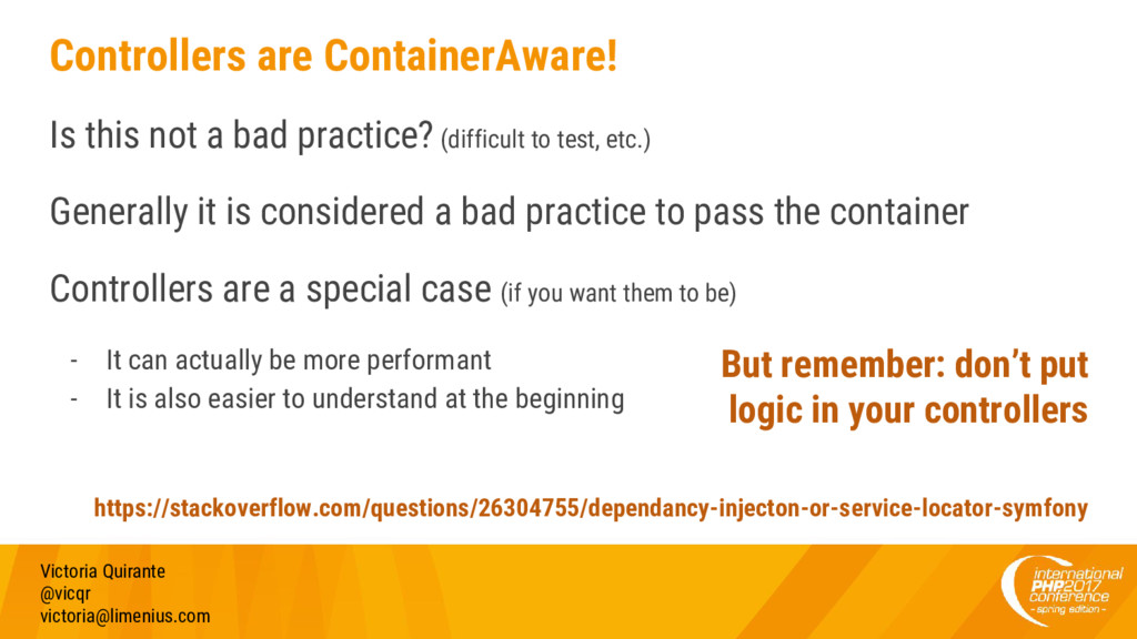 Controllers are ContainerAware! Is this not a b...